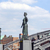 statue of europa and hammonia at the brooks bridge of hamburg stock photo © meinzahn