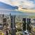 panorama · Frankfurt · hoofd- · Duitsland · kantoor - stockfoto © meinzahn