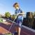 jonge · kaukasisch · jongen · spelen · tuin · blauwe · hemel - stockfoto © meinzahn