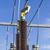 szczegół · turbina · wiatrowa · chmury · krajobraz · metal · energii - zdjęcia stock © meinzahn