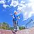 少年 · ジャンプ · スクーター · スケート · 公園 · 空 - ストックフォト © meinzahn