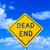 dead end street sign under blue sky stock photo © meinzahn