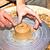 klei · handen · werken · wiel · aardewerk - stockfoto © meinzahn