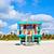 blanco · playa · sur · Miami · colorido - foto stock © meinzahn
