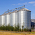 four silver silos in the field after the harvest stock photo © meinzahn