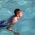 boy enjoys swimming in the pool stock photo © meinzahn