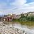 the old wooden bridge spans the river brenta at the village basa stock photo © meinzahn