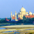 vue · Taj · Mahal · mausolée · arc · arbre · Voyage - photo stock © meinzahn