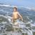 jongens · genieten · mooie · oceaan · strand · golven - stockfoto © meinzahn