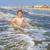 jongen · genieten · mooie · oceaan · strand · golven - stockfoto © meinzahn