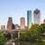Houston · Skyline · coucher · du · soleil · pont · Texas · USA - photo stock © meinzahn