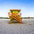 life guard tower on south beach miami in sunset stock photo © meinzahn