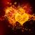 火災 · 心 · 3 ·  · 黒 · 赤 · 愛 - ストックフォト © melpomene