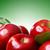 vermelho · verde · maçãs · folhas · tabela · comida - foto stock © melpomene