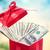 hundred dollar bills in a big red present box stock photo © melpomene