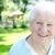 счастливым · старший · Lady · улыбаясь · весны · саду - Сток-фото © Melpomene