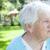 senior · senhora · de · volta · mulher · primavera · idoso - foto stock © Melpomene