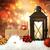 christmas lantern with ornaments and presents stock photo © melpomene