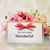 simplemente · maravilloso · mensaje · rosas · rosa · flores - foto stock © Melpomene