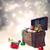 srebrny · christmas · dar · dekoracje · szkatułce · choinka - zdjęcia stock © melpomene