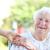 senior · mulher · cadeira · de · rodas · espaço · idoso · rir - foto stock © melpomene