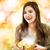幸せな女の子 · 開設 · 現在 · 幸せ · ブロンド · 少女 - ストックフォト © melpomene