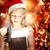 fiatal · szőke · nő · lány · nyitás · ajándék · doboz · boldog - stock fotó © melpomene