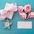 roses · note · carte · mères · jour · vintage - photo stock © melpomene