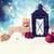 christmas lantern with ornaments in the snow stock photo © melpomene