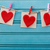 hand crafted felt hearts hanging with clothespins stock photo © melpomene