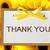 thank you card with yellow gerberas stock photo © melpomene