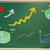 rising arrows and graphs drawn on chalk board stock photo © melpomene
