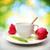 красный · тюльпаны · Кубок · чай · фото · свежие - Сток-фото © melpomene