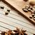 star anise coffee beans nutmeg and cinnamon sticks stock photo © melpomene