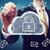 danych · bezpieczne · Chmura · ręce · niebo - zdjęcia stock © melpomene