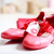 red shoes with ribbon and heart tag stock photo © melpomene