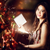 dziewczyna · otwarcie · magiczny · obecnej · niebo · polu - zdjęcia stock © melpomene