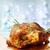 grillezett · egész · tyúk · zöld · kövér · szabad - stock fotó © melpomene