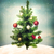 decorated christmas tree on hilltop stock photo © melpomene