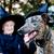 idős · hölgy · kutya · vicces · napozás · együtt - stock fotó © melpomene