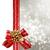 Noel · altın · yay · sınır · dekorasyon · ipek - stok fotoğraf © melpomene