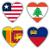 vlaggen · vorm · hart · verschillend · landen · liefde - stockfoto © michaklootwijk