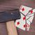 martelo · quebrado · cartão · spades · vintage · veja - foto stock © michaklootwijk