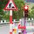 útépítés · feliratok · utca · út · narancs · felirat - stock fotó © michaklootwijk