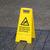figyelmeztető · jel · cédula · veszély · láb · lábak · tiszta - stock fotó © michaklootwijk