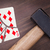 hammer with a broken card ten of diamonds stock photo © michaklootwijk