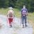 senior tourist couple hiking at the beautiful mountains stock photo © michaklootwijk