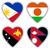 bayraklar · biçim · kalp · farklı · ülke - stok fotoğraf © michaklootwijk