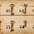 vintage keys with numbers stock photo © michaklootwijk