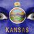 ogen · vlag · geschilderd · gezicht · Kansas - stockfoto © michaklootwijk